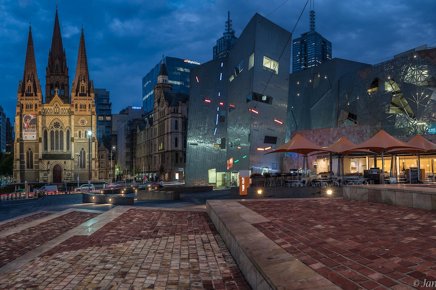 Loving Federation Square In Melbourne